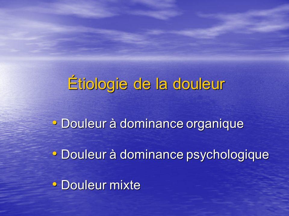 Dimension psychologique de la douleur Réactions psychiques à une douleur organique Réactions psychiques à une douleur organique Expression somatique dune souffrance psychique Expression somatique dune souffrance psychique Coexistence dune douleur organique et dune Coexistence dune douleur organique et dune psychopathologie indépendante de la douleur psychopathologie indépendante de la douleur