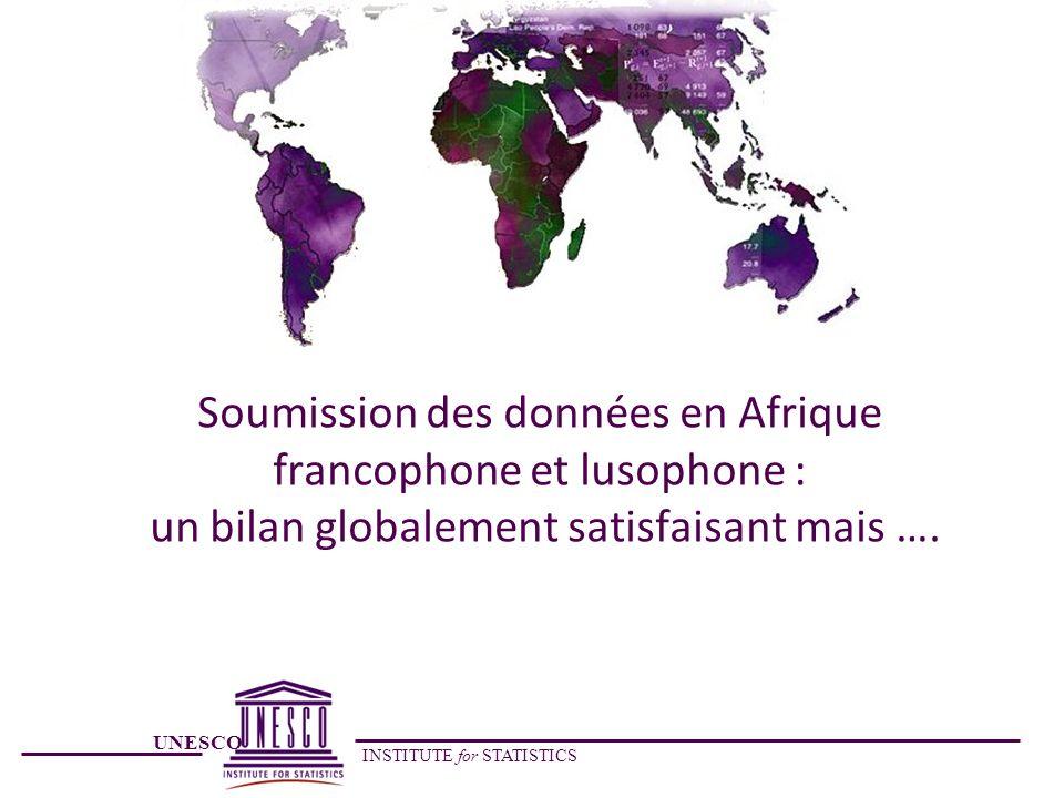UNESCO INSTITUTE for STATISTICS Soumission des données en Afrique francophone et lusophone : un bilan globalement satisfaisant mais ….