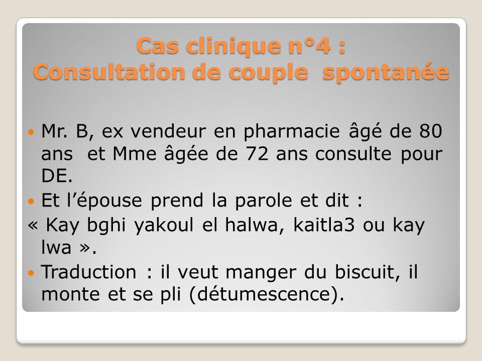Cas clinique n°3 La consultation du couple est ; Difficile, risquée ; Difficile à provoquer ; Le couple est une entité à part ; Un couple ce nest jama