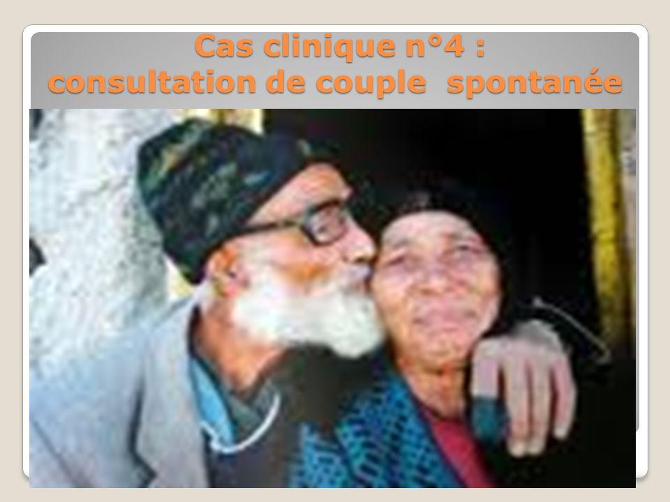 Cas clinique n°4 : consultation de couple spontanée La consultation de couple na pas dâge. Mais le paradoxe, cest quà partir dun certain âge, les tabo