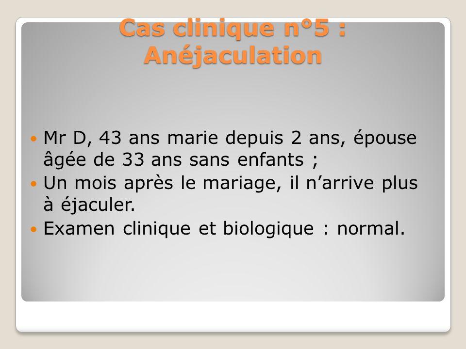 Cas clinique n°4 : consultation de couple spontanée Cas clinique n°4 : consultation de couple spontanée