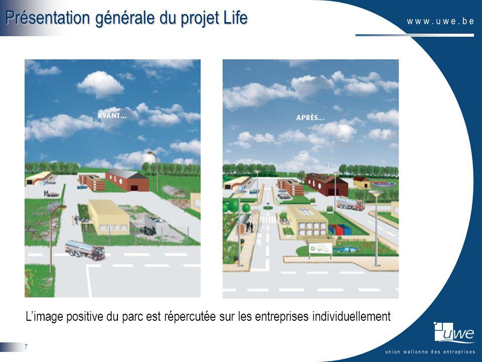 7 Présentation générale du projet Life Limage positive du parc est répercutée sur les entreprises individuellement