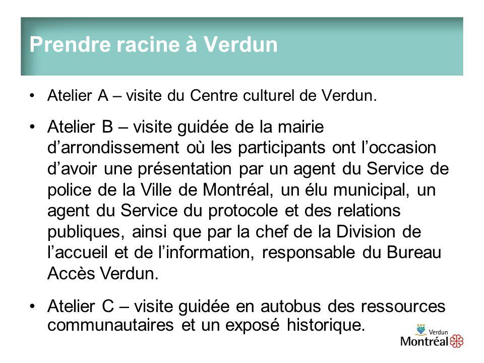 Prendre racine à Verdun Atelier A – visite du Centre culturel de Verdun.