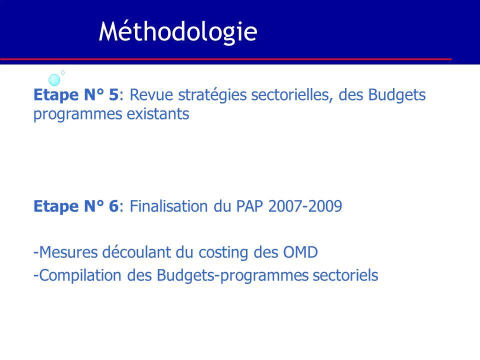 Cas de la SCRP 2007-2009 Élaboration du cadrage central de la SCRP 2007-2009 en fonction des déséquilibres apportés au cadre macroéconomique par la pr