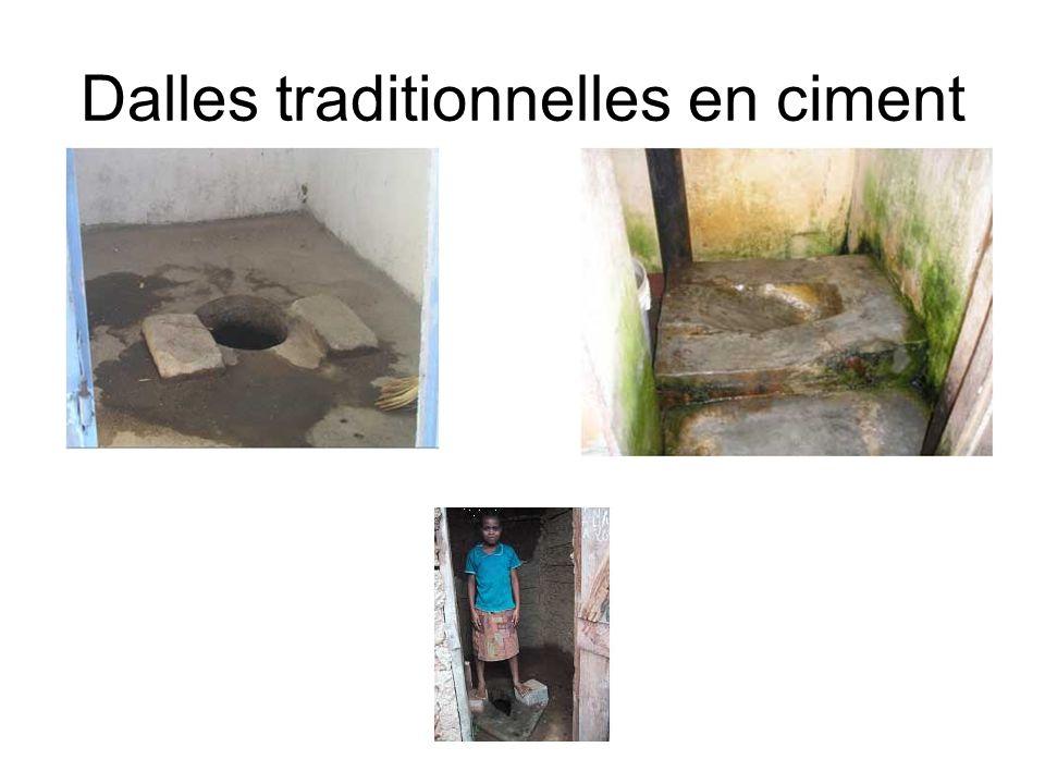 Dalles traditionnelles en ciment