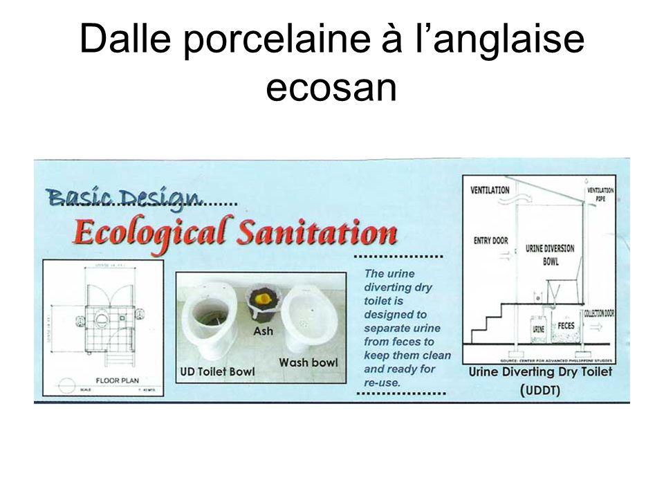 Dalle porcelaine à langlaise ecosan