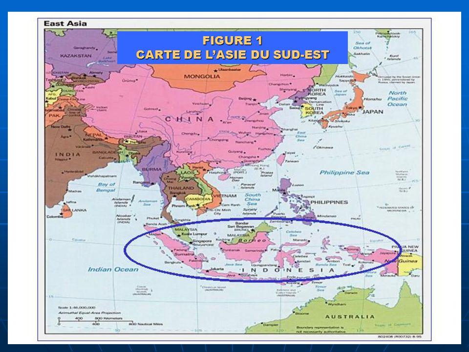 FIGURE 1 CARTE DE LASIE DU SUD-EST