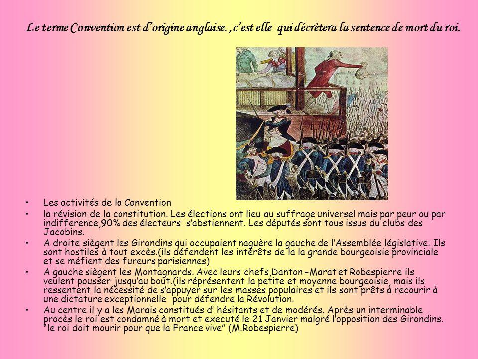 Les activités de la Convention la révision de la constitution. Les élections ont lieu au suffrage universel mais par peur ou par indifference,90% des