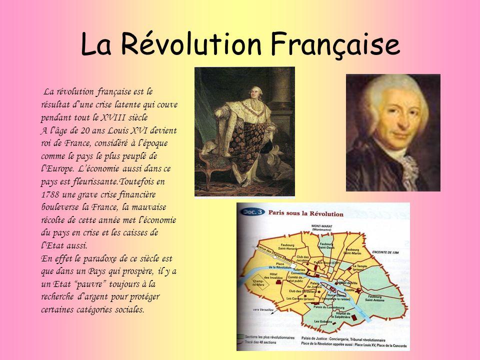 La Révolution Française La révolution française est le résultat dune crise latente qui couve pendant tout le XVIII siècle A lâge de 20 ans Louis XVI d