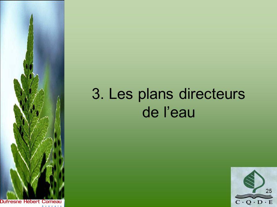 3. Les plans directeurs de leau 25