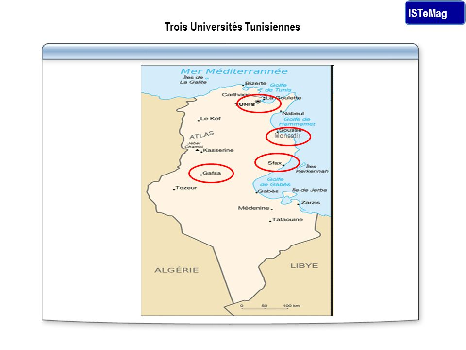 Trois Universités Tunisiennes ISTeMag Monastir