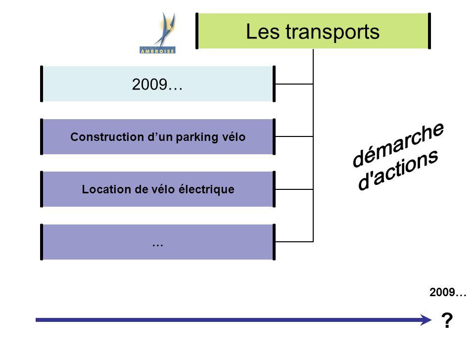 Les transports Construction dun parking vélo Location de vélo électrique … 2009… ?