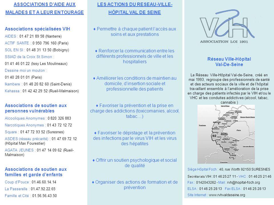Réseau Ville-Hôpital Val-De-Seine Le Réseau Ville-Hôpital Val-de-Seine, créé en mai 1993, regroupe des professionnels de santé et des acteurs sociaux