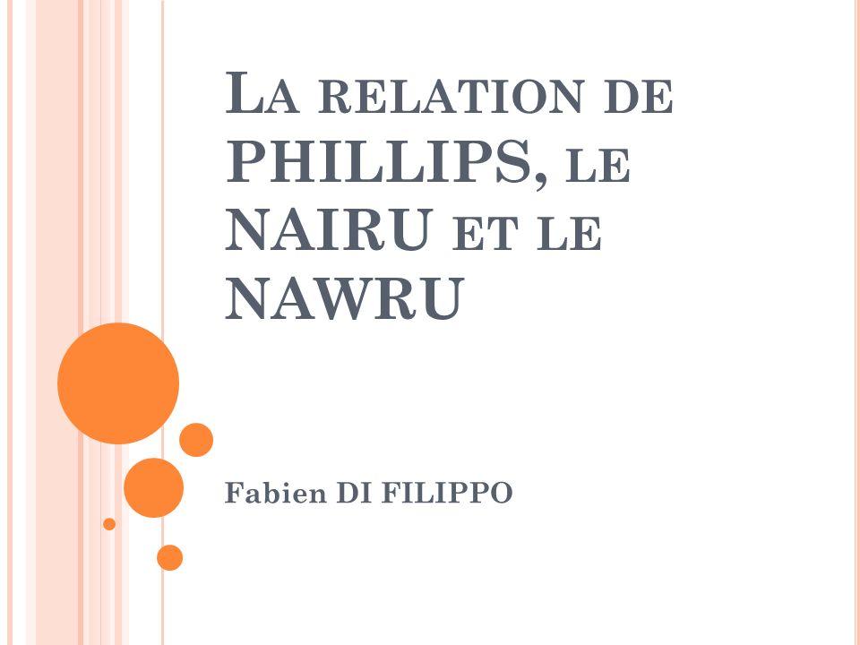 L A RELATION DE PHILLIPS, LE NAIRU ET LE NAWRU Fabien DI FILIPPO