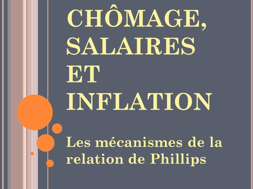 CHÔMAGE, SALAIRES ET INFLATION Les mécanismes de la relation de Phillips