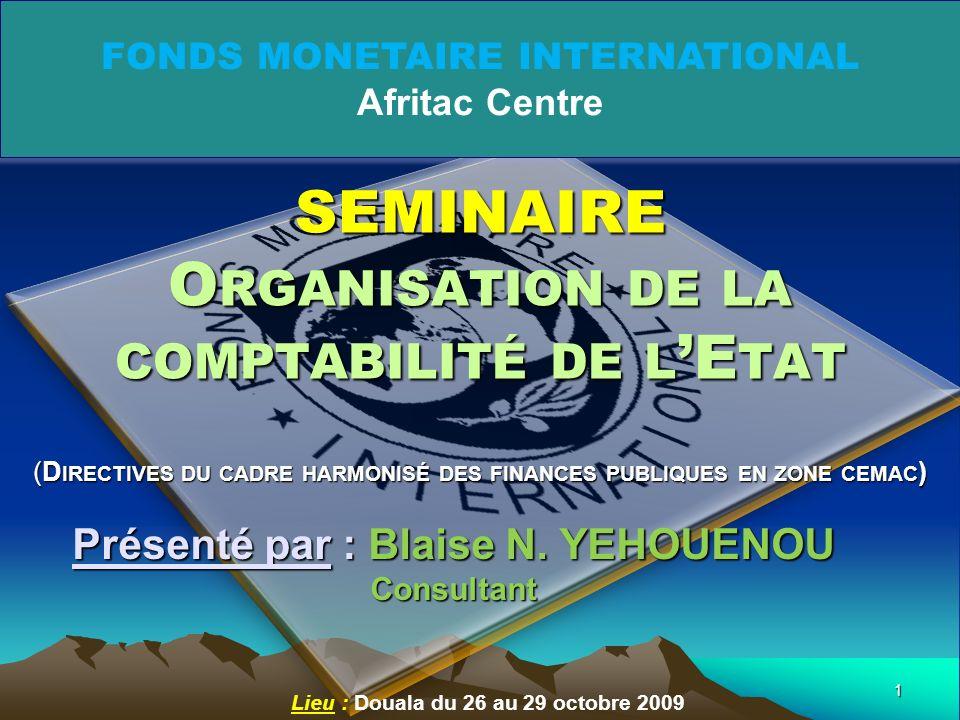 1 Lieu : Douala du 26 au 29 octobre 2009 Présenté par : Blaise N.