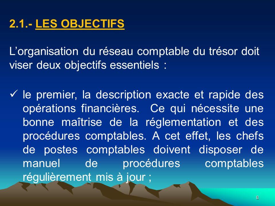 19 3. LA TENUE DE LA COMPTABILITÉ GÉNÉRALE DE LÉTAT
