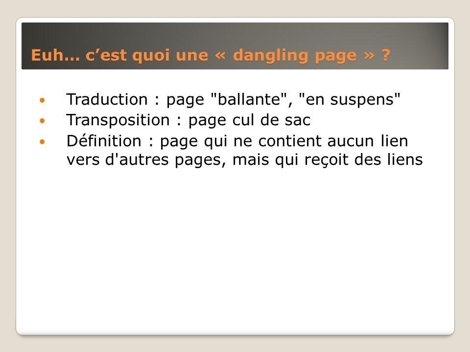 Euh… cest quoi une « dangling page » ? Traduction : page
