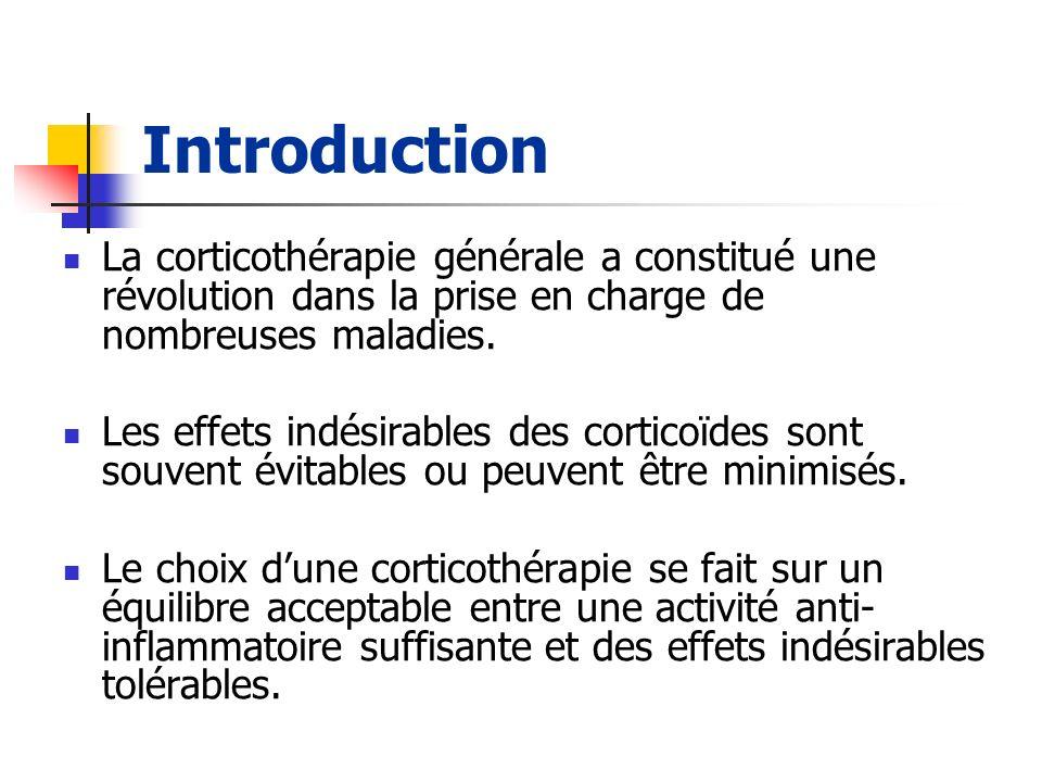 Introduction La corticothérapie générale a constitué une révolution dans la prise en charge de nombreuses maladies. Les effets indésirables des cortic