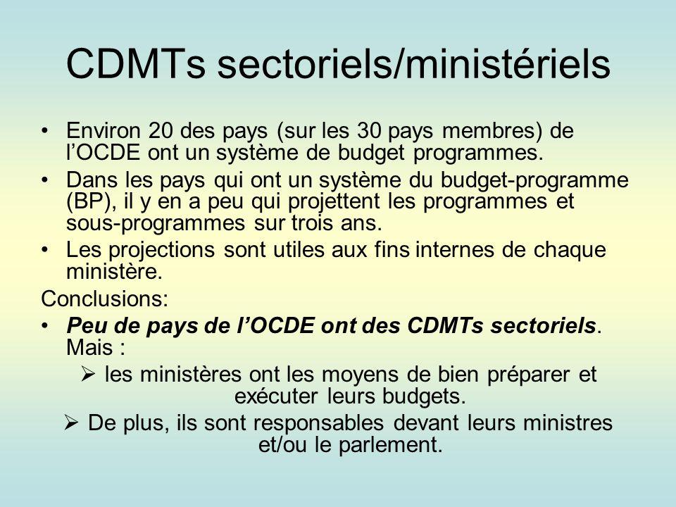 Défis des budget-programmes dans les pays de lOCDE Il ny a pas un seul modèle des BP: chaque pays adapte leur système des BP au contexte politique et institutionnel.