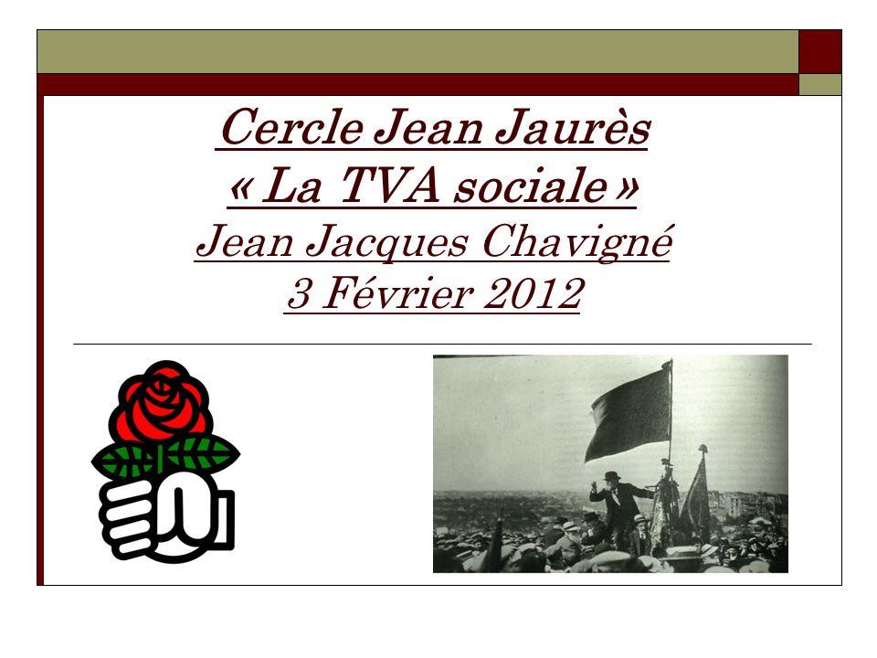 Cercle Jean Jaurès « La TVA sociale » Jean Jacques Chavigné 3 Février 2012