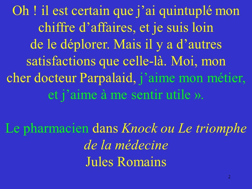 Le médicament est fabriqué par lindustrie pharmaceutique.