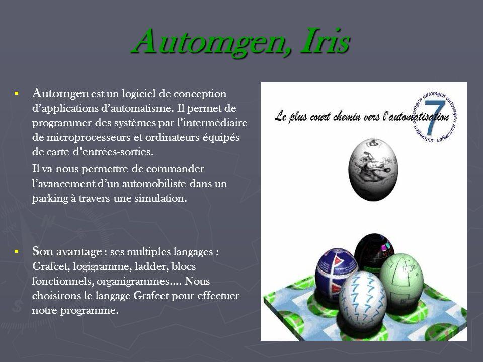Automgen, Iris Automgen est un logiciel de conception dapplications dautomatisme. Il permet de programmer des systèmes par lintermédiaire de microproc