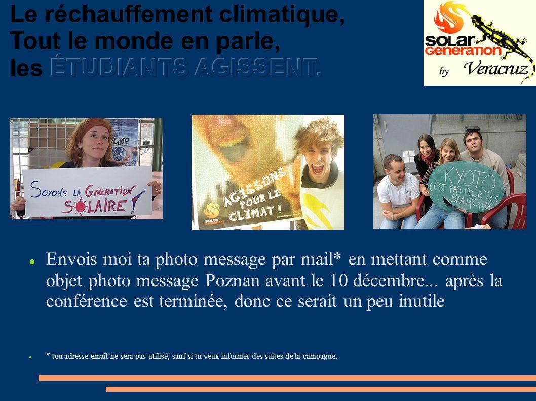 Envois moi ta photo message par mail* en mettant comme objet photo message Poznan avant le 10 décembre...
