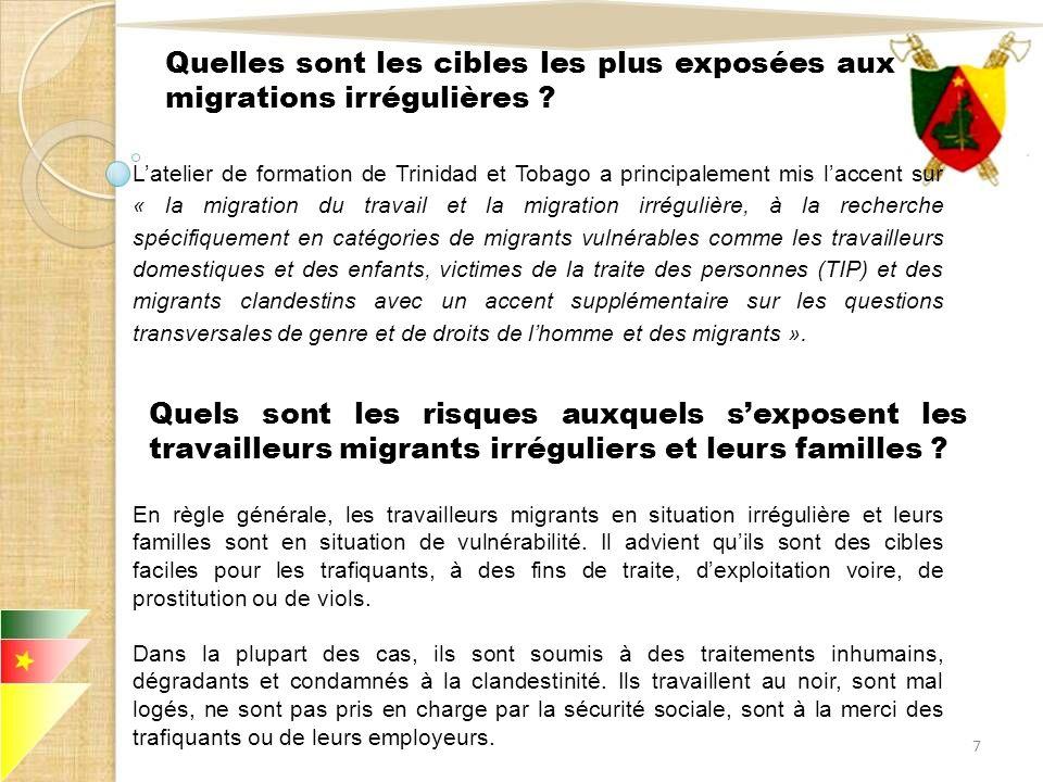 III.LES TRAVAILLEURS MIGRANTS EN SITUATION IRRÉGULIÈRE ONT-ILS DES DROITS « SPÉCIFIQUES » .