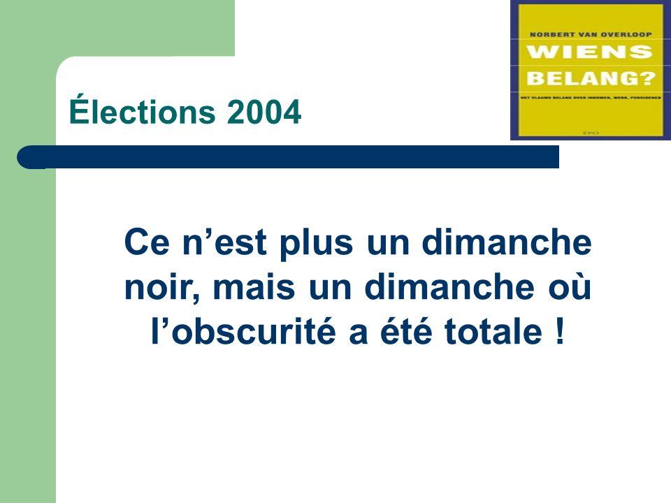 Élections 2004 Ce nest plus un dimanche noir, mais un dimanche où lobscurité a été totale !