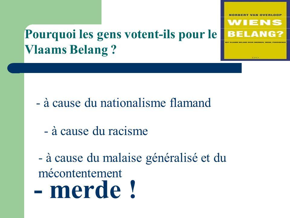 Pourquoi les gens votent-ils pour le Vlaams Belang .