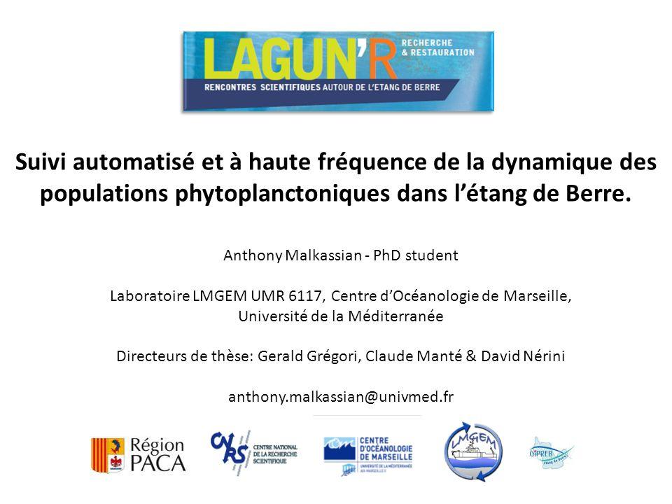 Anthony Malkassian - PhD student Laboratoire LMGEM UMR 6117, Centre dOcéanologie de Marseille, Université de la Méditerranée Directeurs de thèse: Gera