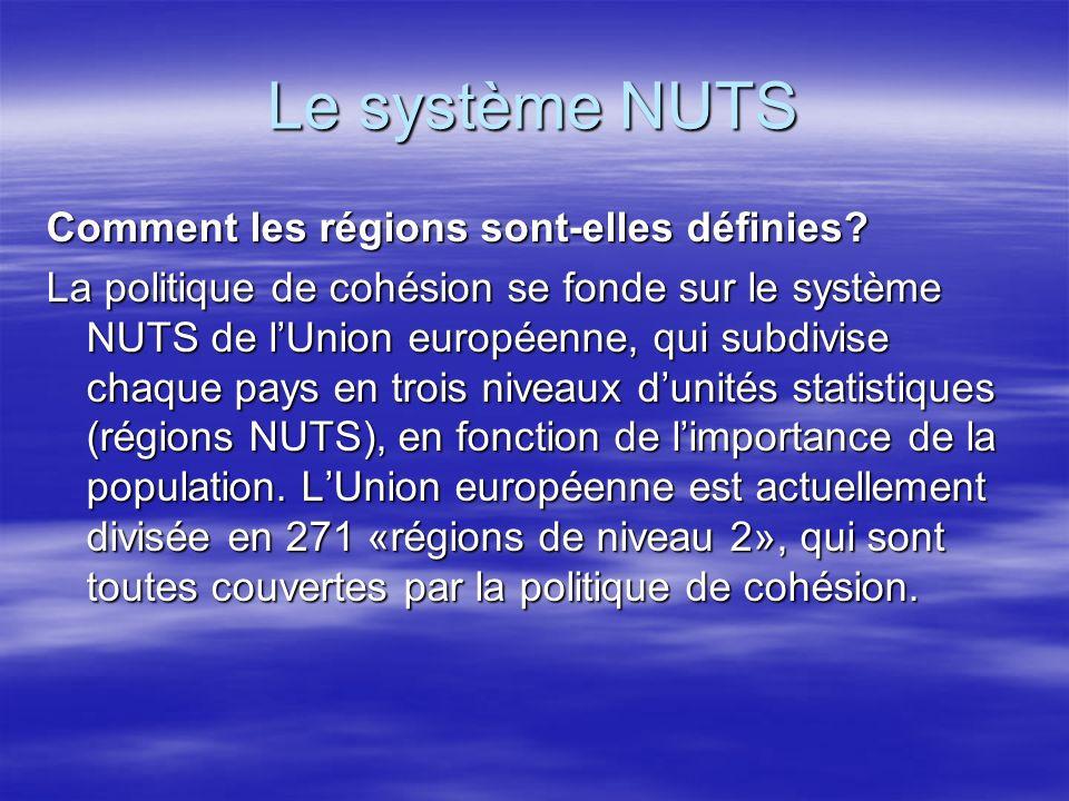 Le système NUTS Comment les régions sont-elles définies.