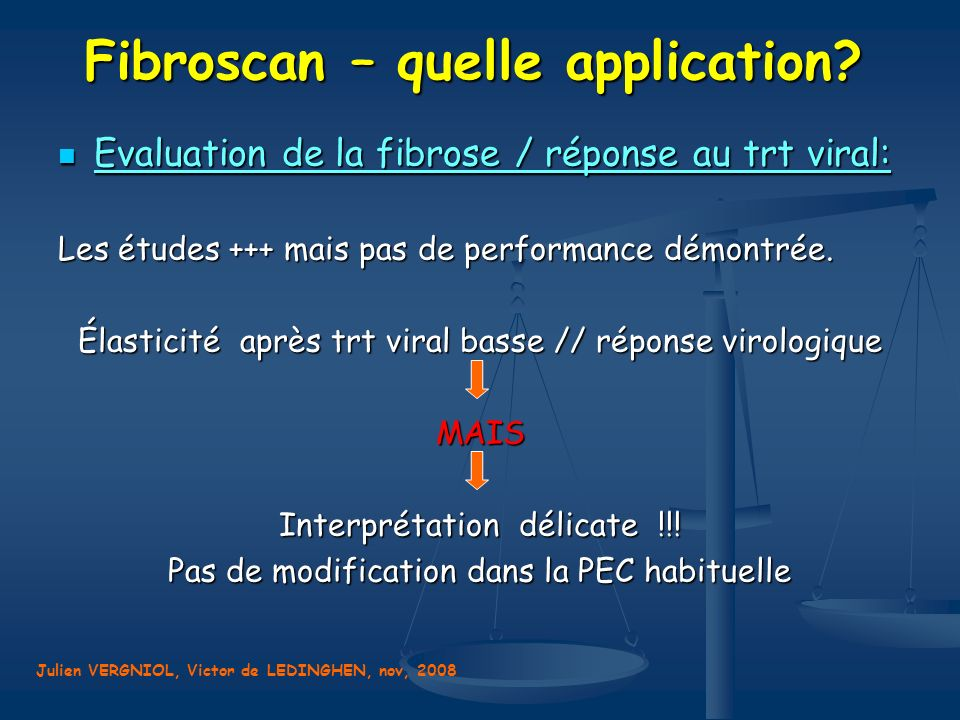 Fibroscan – quelle application.
