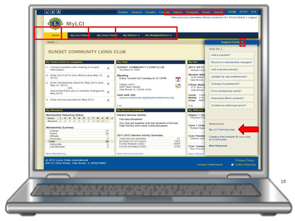 Avant-première de « MonLCI » Site de formation Accès et connexion à « MonLCI » Vue d ensemble du site Fonctions des données de l effectif Ajouter, radier, modifier les membres Créer une unité familiale Accéder aux rapports Les plus de « MonLCI »