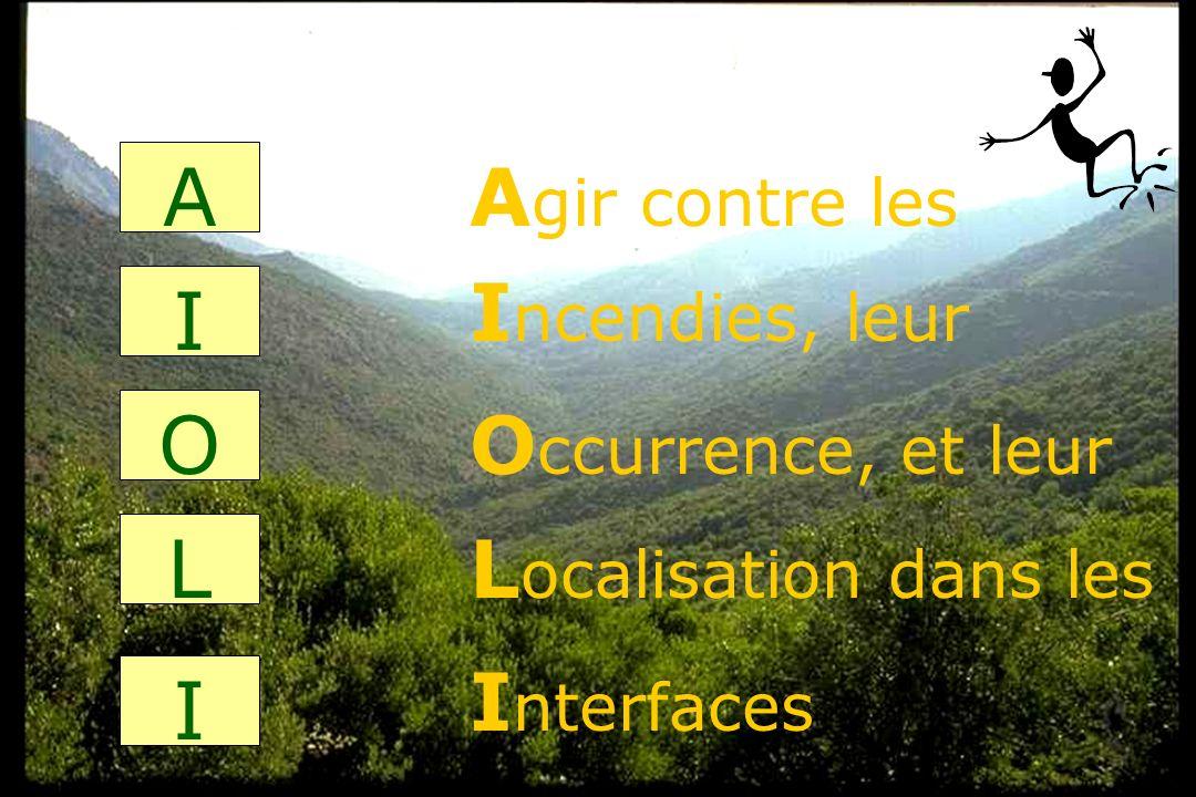GIS Incendies de Forêt, Colloque de Marseille, 1 décembre 20042 A I O L I A gir contre les I ncendies, leur L ocalisation dans les O ccurrence, et leu