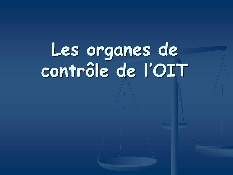 Utiles pour vos recherches http://www.ilo.org http://www.ilo.org http://www.ilo.org Lien : normes internationales du travail Lien : normes internationales du travail Base de donnés ILOLEX (permet une recherche universelle) Base de donnés ILOLEX (permet une recherche universelle) Base de donnés LIBSYND (permet de consulter les cas du CLS) Base de donnés LIBSYND (permet de consulter les cas du CLS) Base de donnés APPLIS (état au jour le jour des ratifications des conventions, des commentaires des organes de contrôle par pays ou par convention) Base de donnés APPLIS (état au jour le jour des ratifications des conventions, des commentaires des organes de contrôle par pays ou par convention)