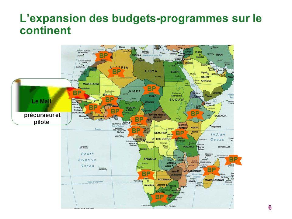 6 Lexpansion des budgets-programmes sur le continent Le Mali précurseur et pilote BP
