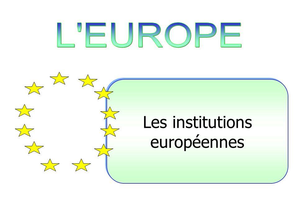 La commission européenne Le parlement européen La cour européenne de justice Le conseil des ministres