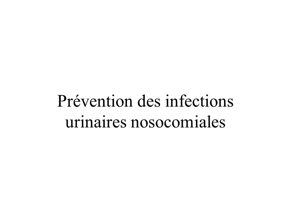 Prévention des infections liées aux cathéters