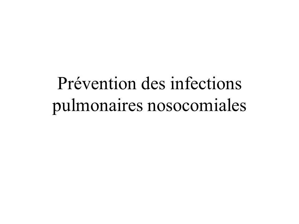 Prévention des infections pulmonaires nosocomiales