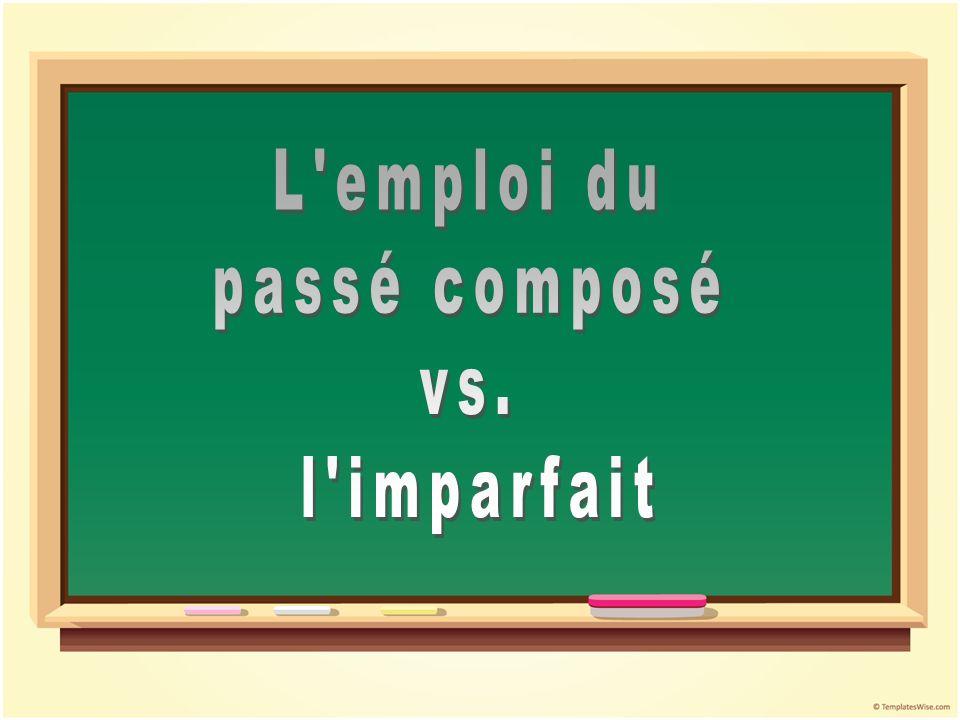 Le passé composéLimparfait 1.Une action finie, complétée1.