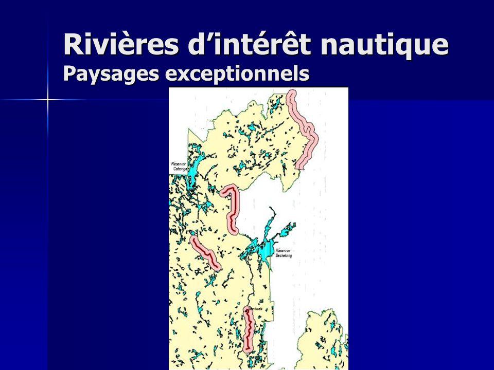 Rivières dintérêt nautique Paysages exceptionnels