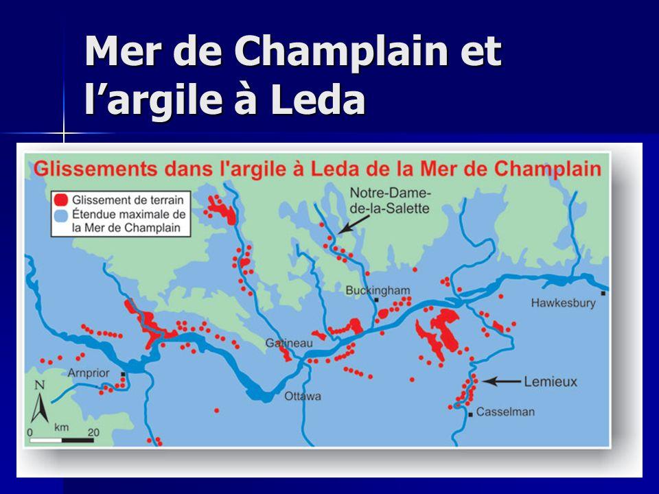 Mer de Champlain et largile à Leda