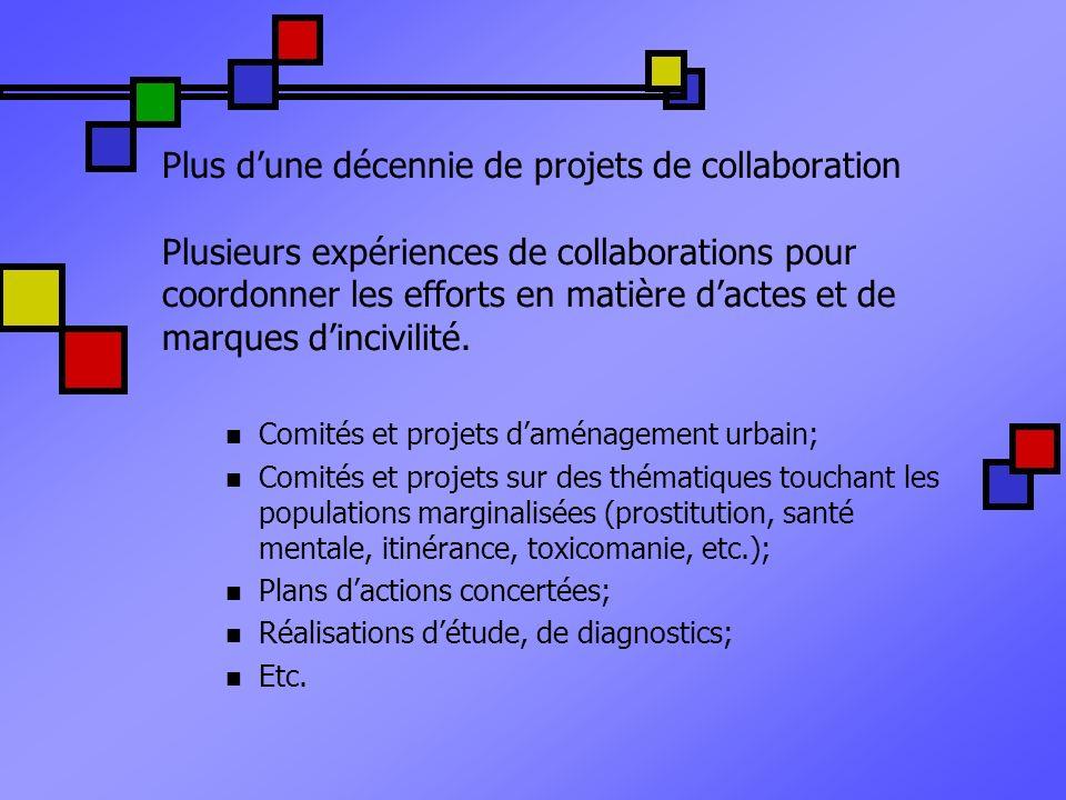 Plus dune décennie de projets de collaboration Plusieurs expériences de collaborations pour coordonner les efforts en matière dactes et de marques din