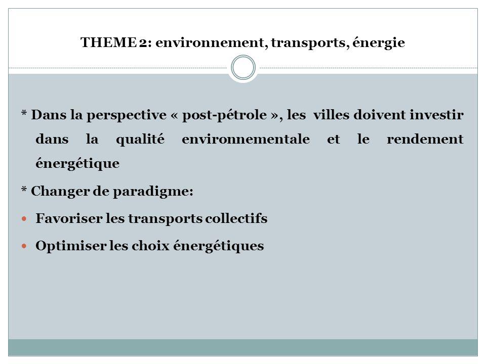 THEME 1: Activités économiques * Développement des ressources humaines * Compétitivité * Politiques facilitant la création dentreprises/lamélioration