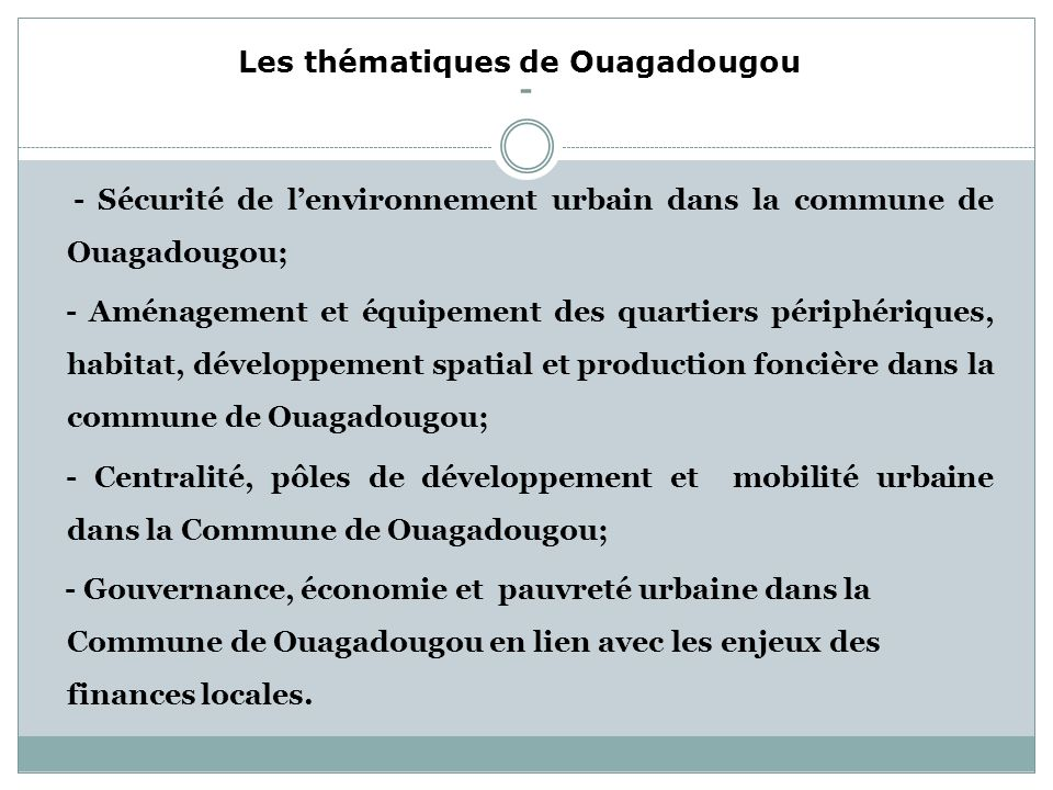 THEME 5: Gouvernance Politiques et cadres légaux à léchelle nationale Corréation entre les budgets des autorités locales et les ressources humaines Re