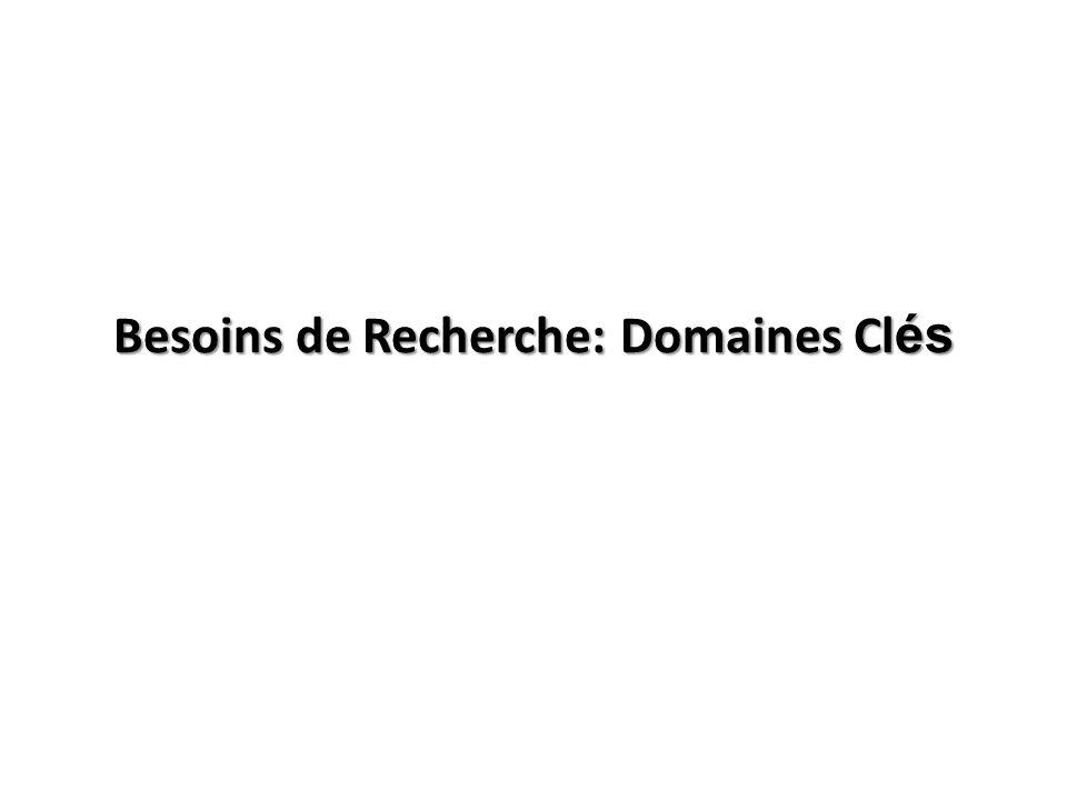 Besoins de Recherche: Domaines Cl és