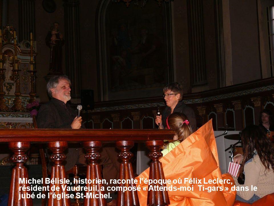 Michel Bélisle, historien, raconte lépoque où Félix Leclerc, résident de Vaudreuil, a composé « Attends-moi Ti-gars » dans le jubé de léglise St-Michel.