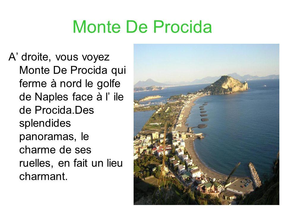 Monte De Procida A droite, vous voyez Monte De Procida qui ferme à nord le golfe de Naples face à l ile de Procida.Des splendides panoramas, le charme